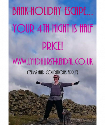 Bank Holiday Escapes get your 4th night half price